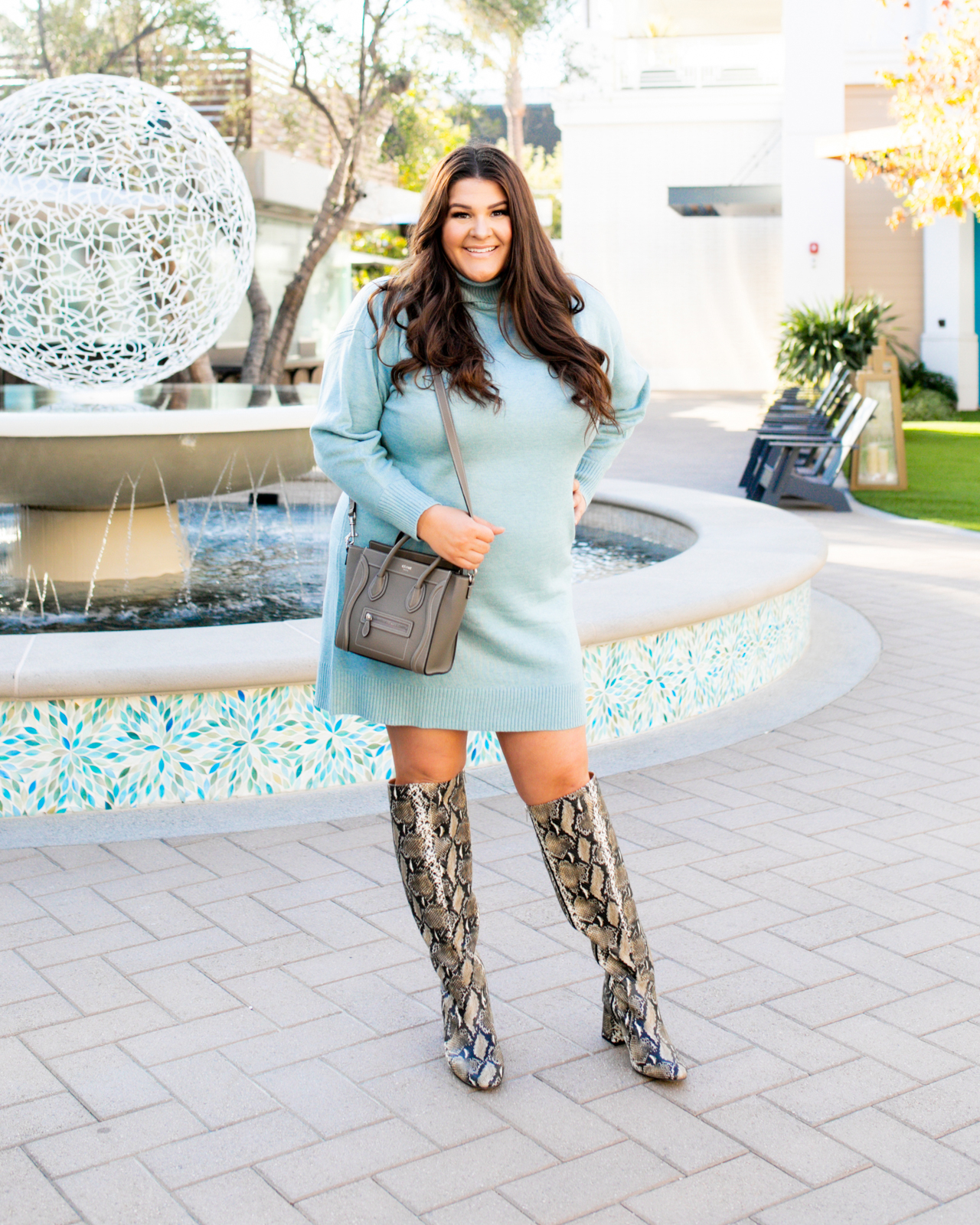 Plus Size Sweater Dress Style